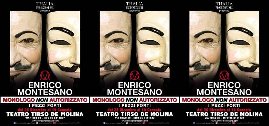 """Teatro Tirso """"Monologo non autorizzato""""."""