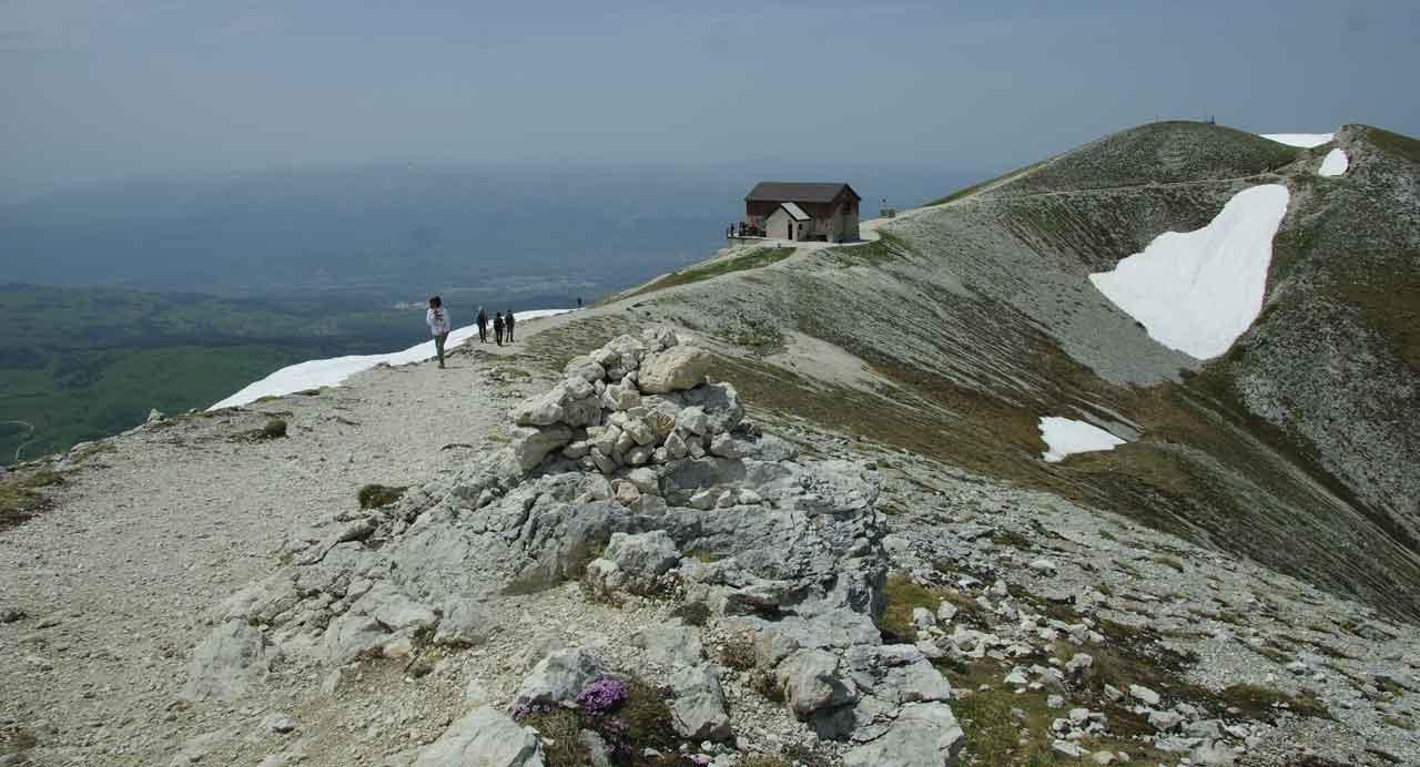 Gran Sasso e le sue cime viste dal Rifugio.