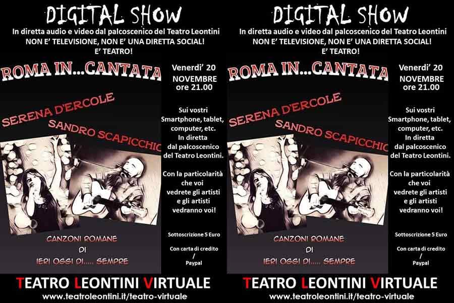 """Roma in...Cantata"" Teatro Leontini."