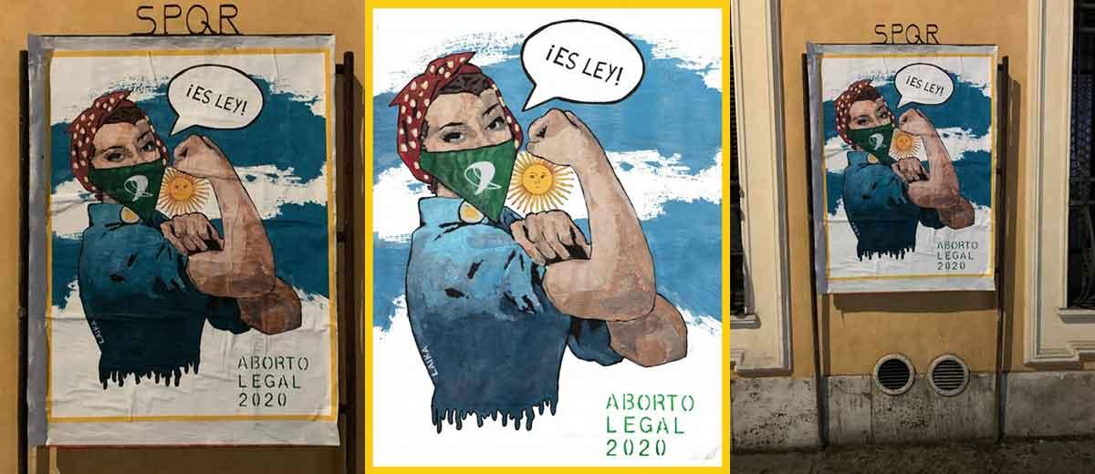 Laika la sua ultima opera di Street Artist.