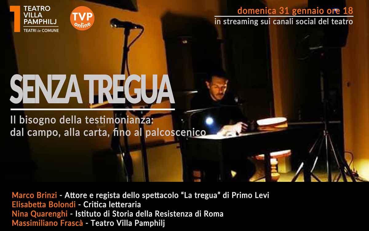 """Teatro Villa Pamphilj """"Settimana della memoria""""."""