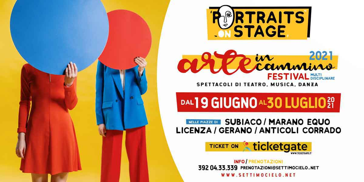"""""""Arte in Cammino"""" Portraits On Stage."""