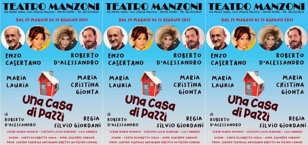 """Teatro Manzoni debutta """"Una casa di pazzi"""","""