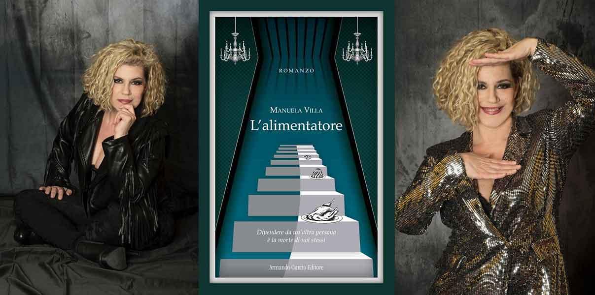 """Manuela Villa presenta il suo novo libro """"L'alimentatore""""."""