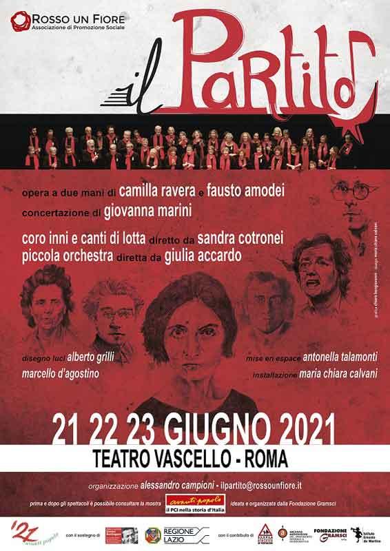 """Teatro Vascello """"Il Partito – una cantata politica""""."""