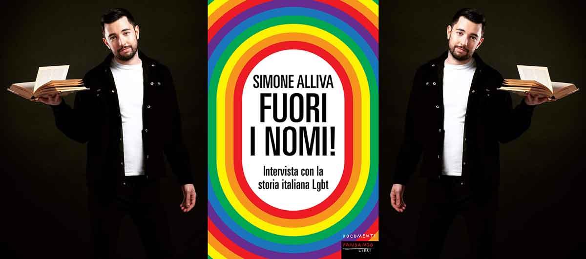 """Simone Alliva presenta il suo libro """"Fuori i nomi""""."""