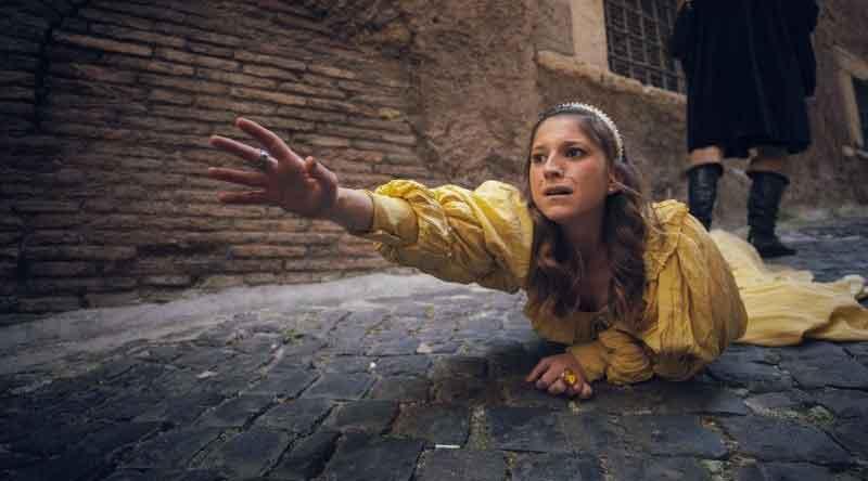 """""""Beatrice Cenci"""" sul Ponte di CastelSant'Angelo ."""