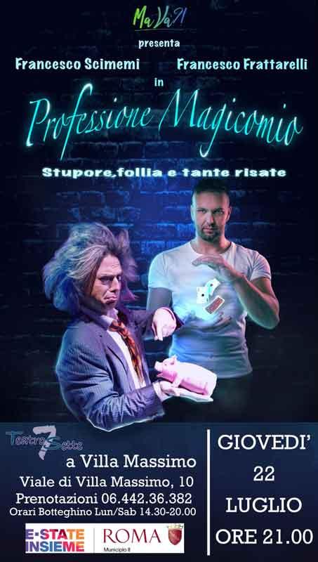 """Teatro Villa Massimo """"Professione Magicomio"""""""