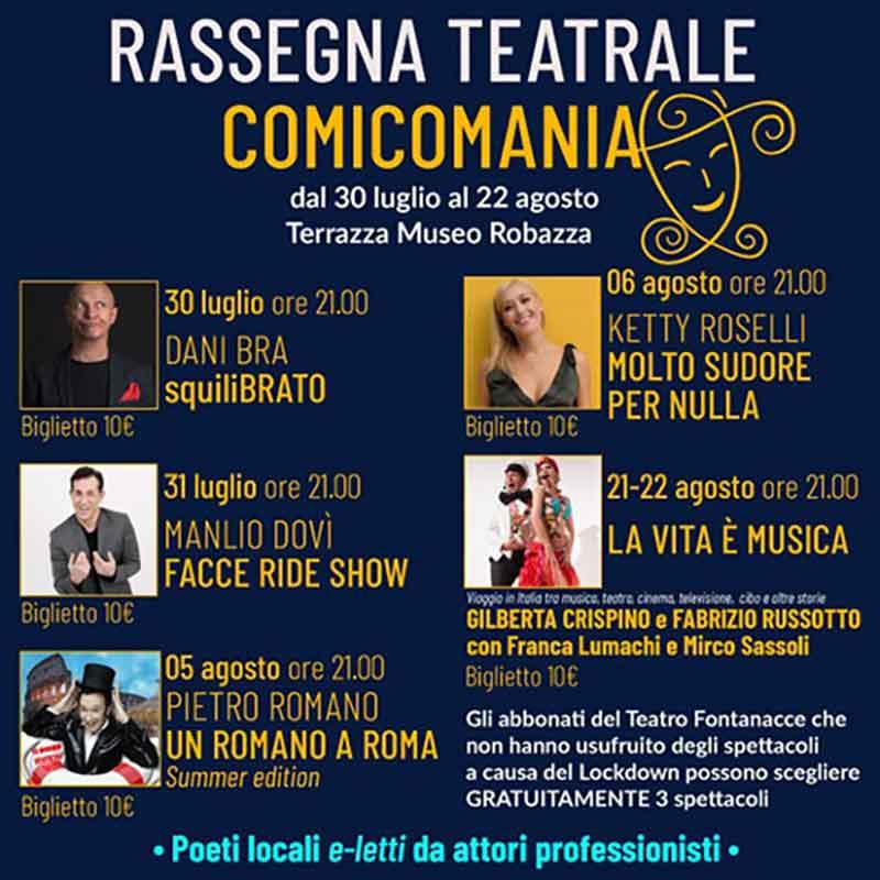 """Il Teatro Comunale Le Fontanacce presenta """"Comicomania"""""""