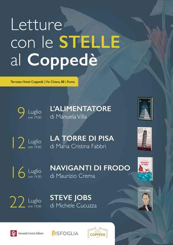"""Manuela Villa """"Letture con le Stelle al Coppedè""""."""