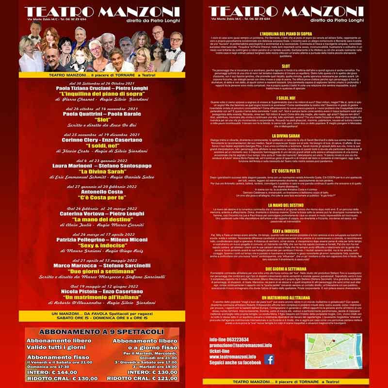"""Teatro Manzoni """"Il Teatro. Storie di famiglia""""."""