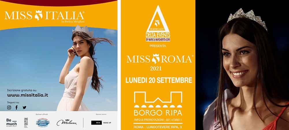 """Roma, Borgo Ripa """"Miss Roma 2021""""."""