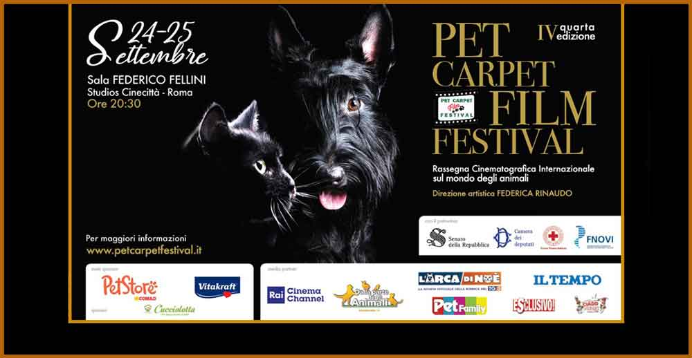 "Cinecittà Studios Sala Fellini ""Pet Carpet Film Festival""."