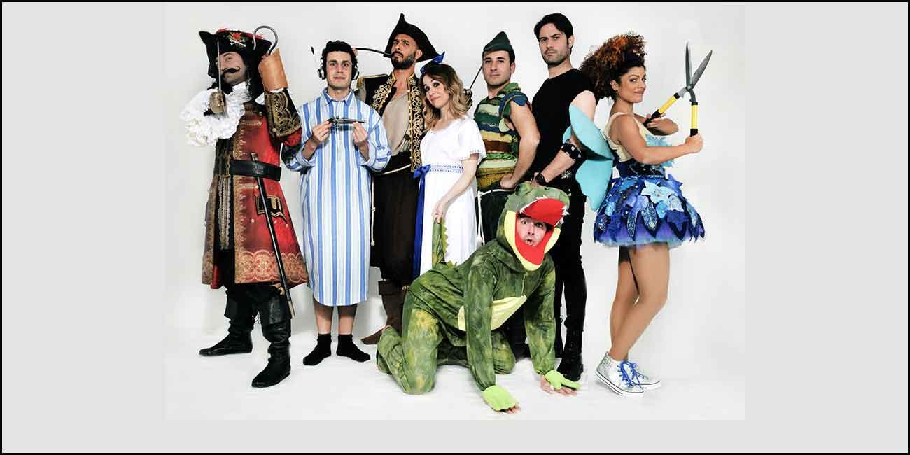"""Teatro Brancaccio """"Che disastro di Peter Pan""""."""